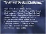 technical design challenge i
