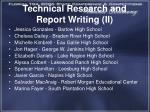 technical research and report writing ii