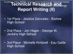technical research and report writing ii1