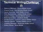 technical writing challenge i