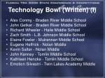 technology bowl written i