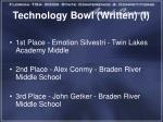 technology bowl written i1