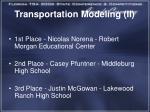 transportation modeling ii1