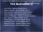 tsa multimedia i
