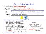 target interpretation1