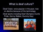 what is deaf culture1
