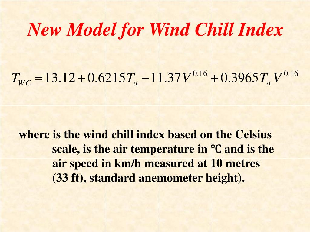 New Model for Wind Chill Index