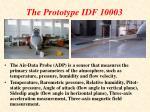 the prototype idf 10003
