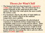 theory for wind chill