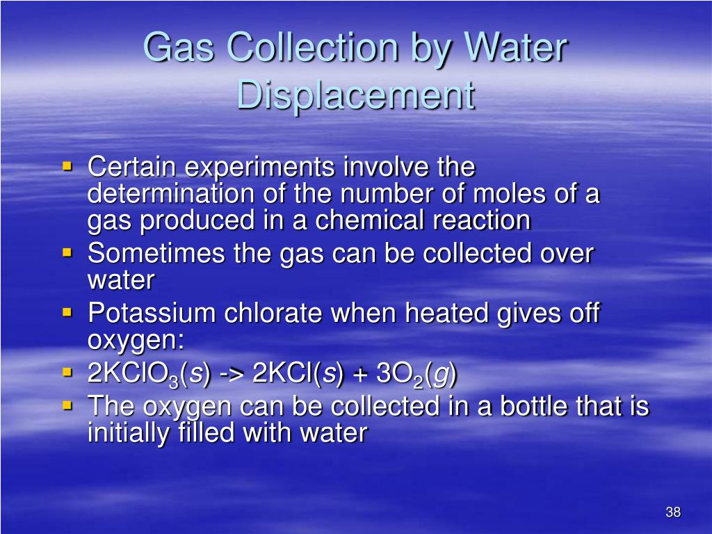Gas Collection by Water Displacement