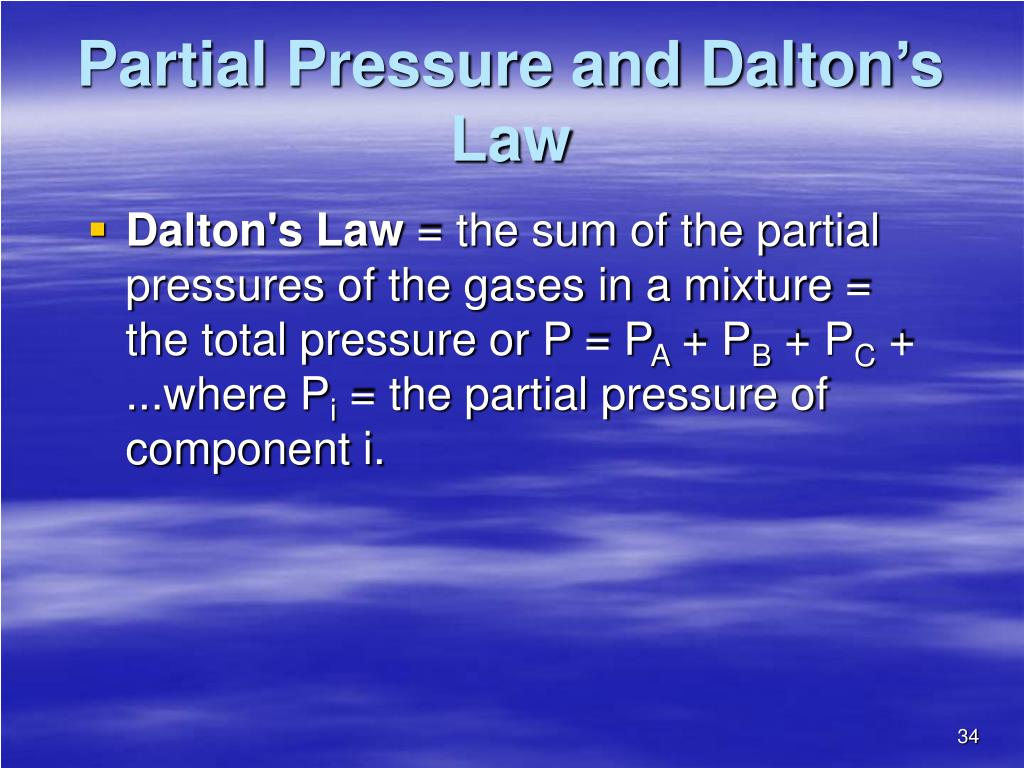 Partial Pressure and Dalton's Law