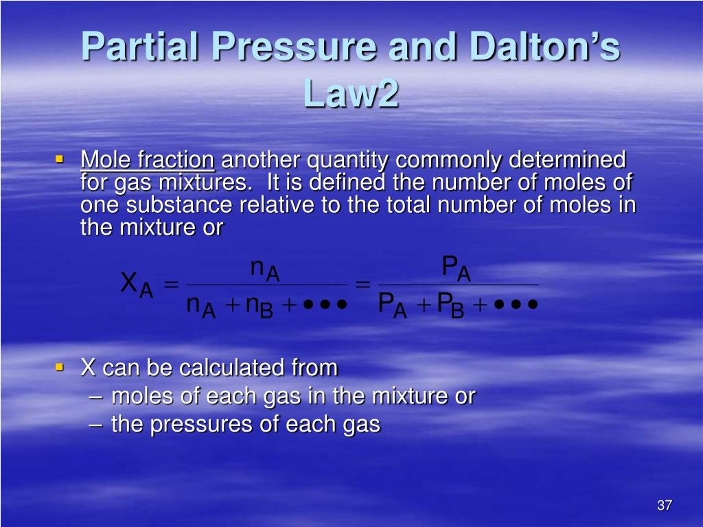 Partial Pressure and Dalton's Law2
