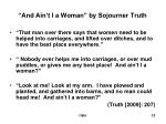 and ain t i a woman by sojourner truth