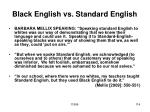 black english vs standard english