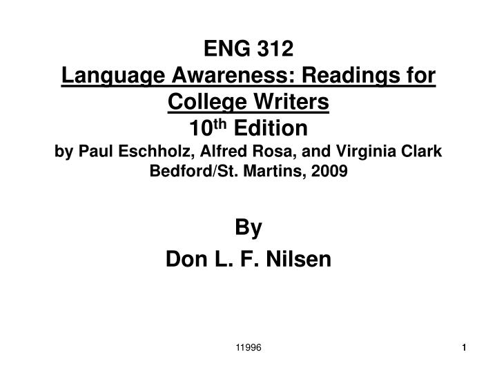 language awareness essays for college writers
