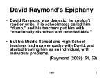 david raymond s epiphany