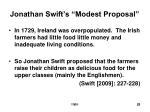 jonathan swift s modest proposal