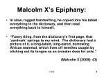 malcolm x s epiphany