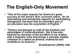 the english only movement