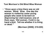 toni morrison s old blind wise woman