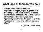what kind of food do you eat