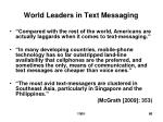 world leaders in text messaging