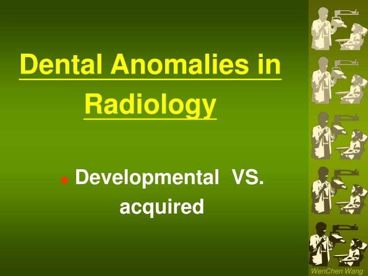 dental anomalies in radiology n.