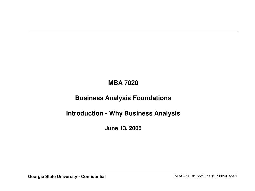MBA 7020