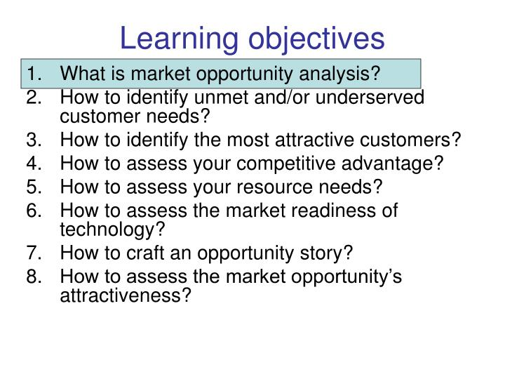 Learning objectives3