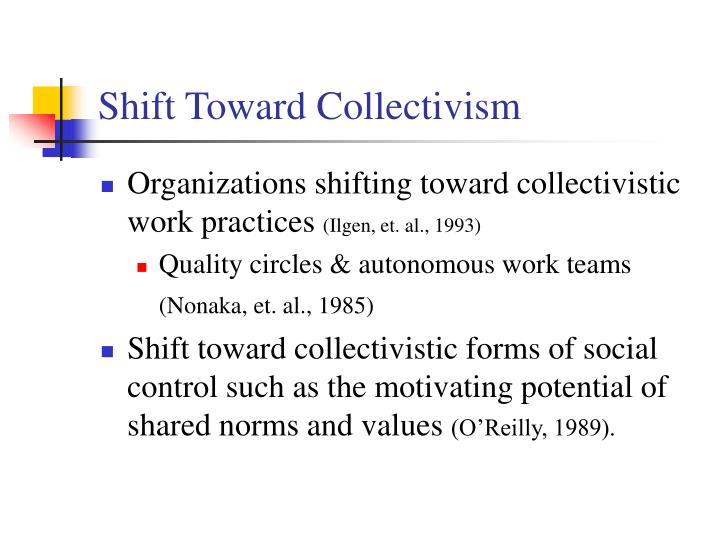 Shift Toward Collectivism