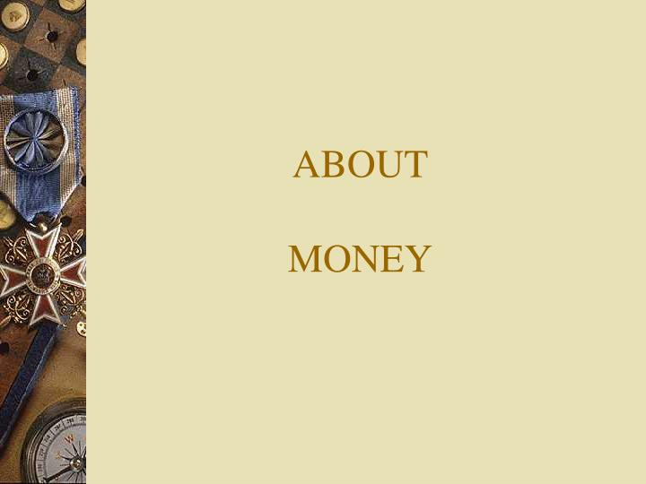 about money n.