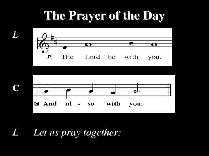 The Prayer of the Day