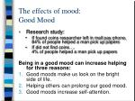 the effects of mood good mood