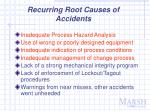 recurring root causes of accidents