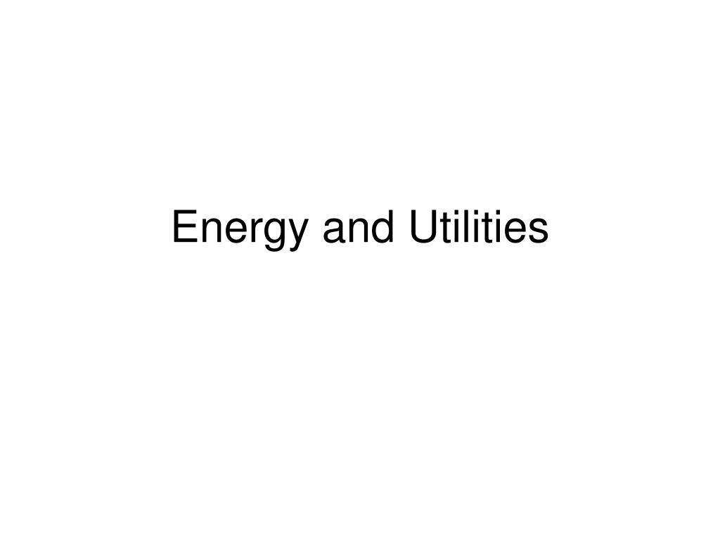 energy and utilities l.