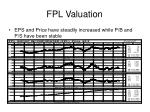 fpl valuation