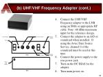 b uhf vhf frequency adapter cont