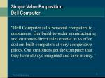 simple value proposition dell computer