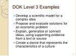 dok level 3 examples1