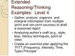 extended reasoning thinking examples level 4