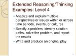 extended reasoning thinking examples level 41