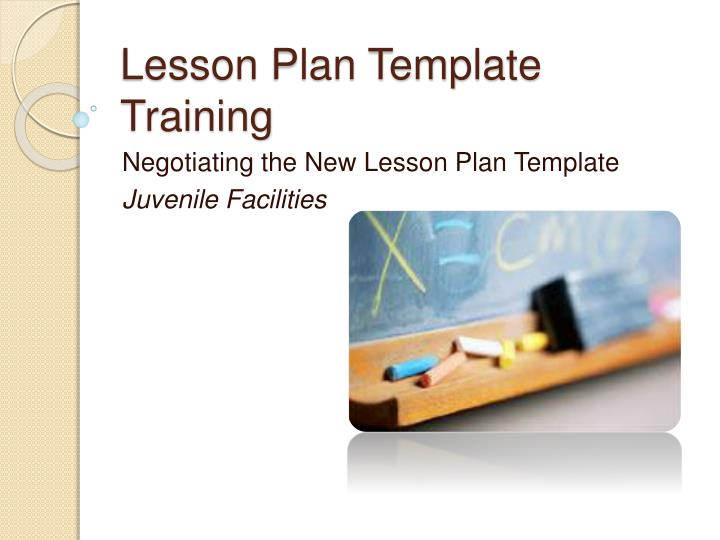 lesson plan template training n.