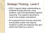 strategic thinking level 3