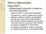 what is differentiated instruction