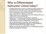 why is differentiated instruction critical today