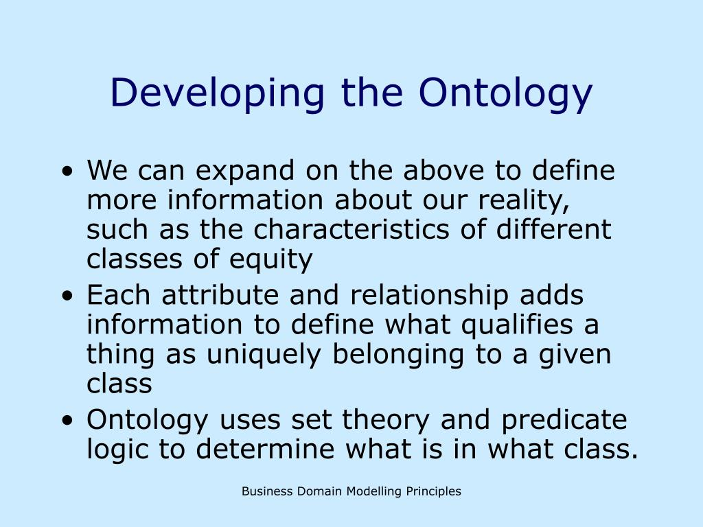 Developing the Ontology
