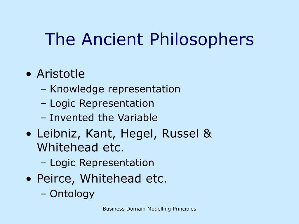 The Ancient Philosophers