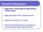 therpeutic management