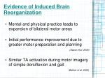 evidence of induced brain reorganization