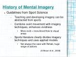 history of mental imagery1